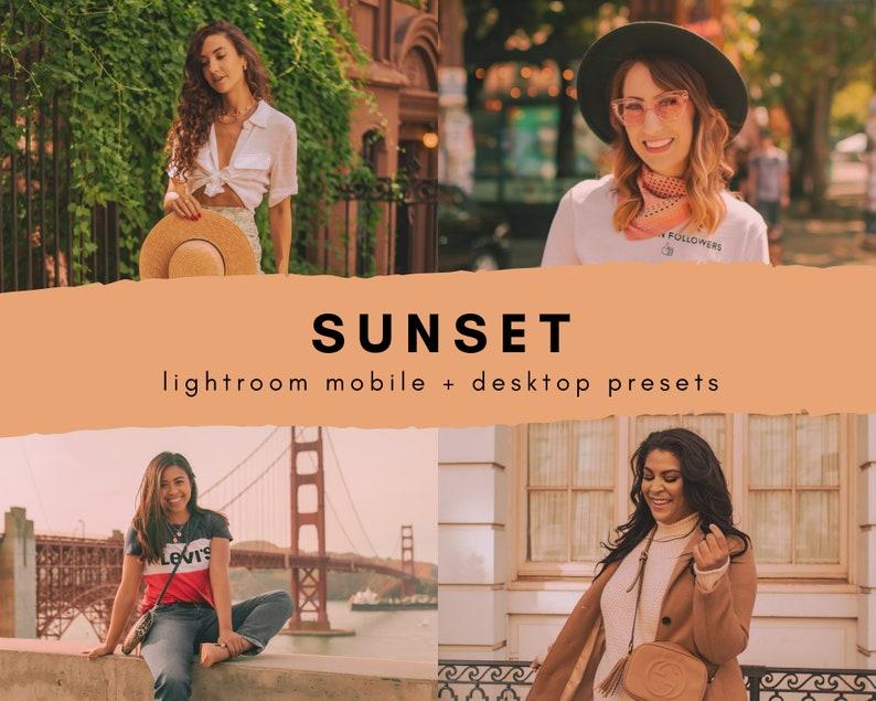 4 Lightroom Mobile presets golden hour sunset presets image 0