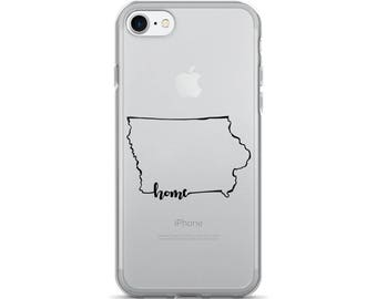 Iowa Home State - iPhone Case (iPhone 7/7 Plus, iPhone 8/8 Plus, iPhone X)