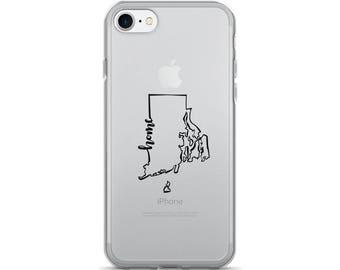 Rhode Island Home State - iPhone Case (iPhone 7/7 Plus, iPhone 8/8 Plus, iPhone X)