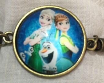 Frozen Childrens Elsa Anna Olaf Bracelet