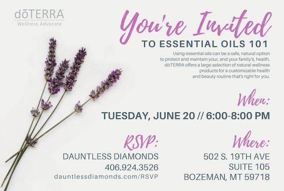 doterra class invitation lavender ii