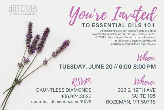 doTERRA Class Invitation Lavender II | Etsy