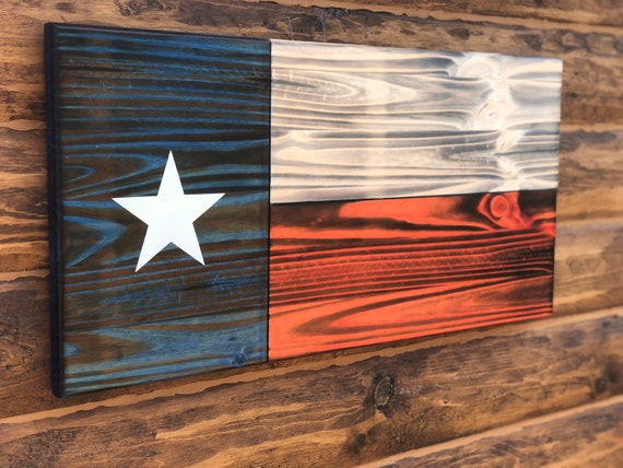 Texas State Flag Wall Decor Charred Texas Flag Rustic Texas Etsy