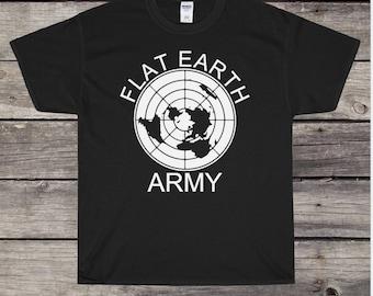 3d25e9eb Flat earth t shirt   Etsy
