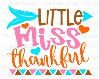 Little Miss Thankful SVG Clipart Cut Files Silhouette Cameo Svg for Cricut and Vinyl File cutting Digital cuts file DXF Png Pdf Eps