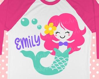 Mermaid SVG  - Birthday Svg  - SVG mermaid - Unicorn svg - Mermaid shirt - Little girl svg - Summer svg - School svg - SVG , dxf,png,pdf,eps