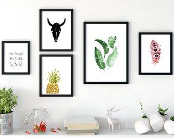 GALLERY WALL 5 piece gallery wall prints gallery wall set gallery wall art gallery wall decor gallery wall nature print set gallery set  sc 1 st  Etsy & Gallery wall print | Etsy