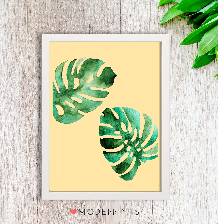 Monstera Leaf Print Botanical Print Nature Print Monstera | Etsy