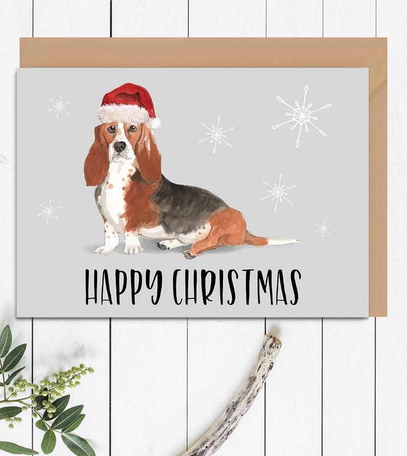 af12859700e Happy Christmas Dogs Card Christmas Card For Dogs Merry