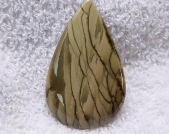 52.70 Cts Willow Creek Jasper Pear Shape loose gemstone Cabochon 46x29x5 MM