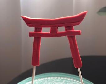 Fondant Torii Gate Cake Topper, Edible Torii Gate