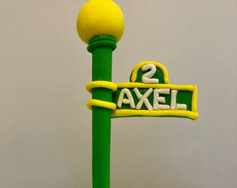 Fondant Sesame Street Sign/Pole