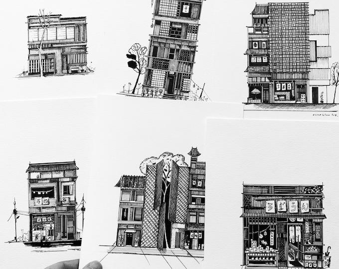 6 Japanese facades