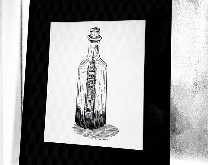 A bottle in the sea