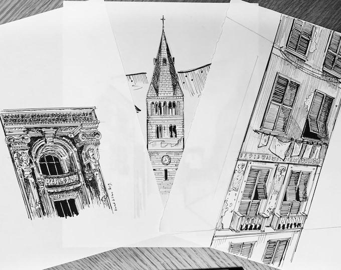 "3 sketch ""italia"""