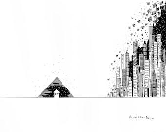 Pyramid little house