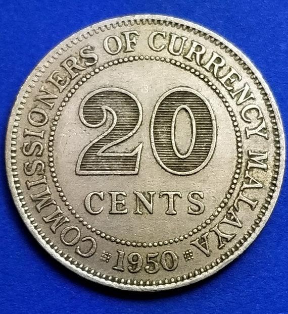 1950 Malaya 20 Cents
