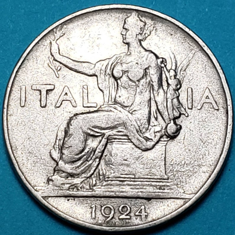 Italy  Italian World War 2 Coin Collection  20 and 50 Centesimi and Lira