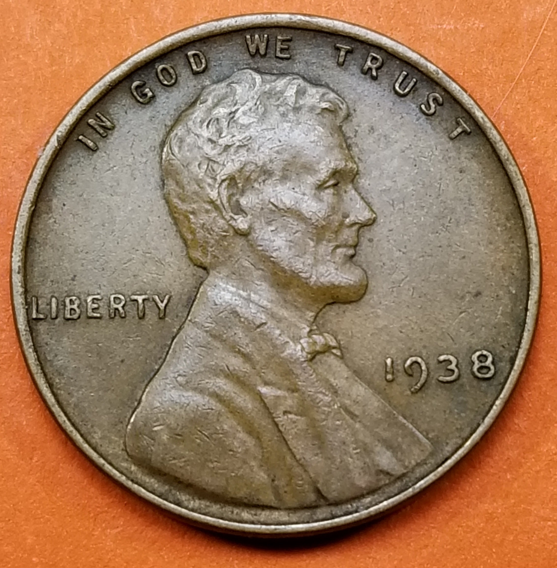 1938-P VG Lincoln Penny