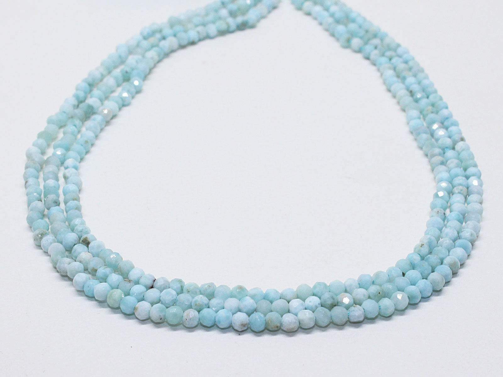 Turquoise faceted round strand 16 turquoise line for jewelry making 2.5 mm turquoise beads