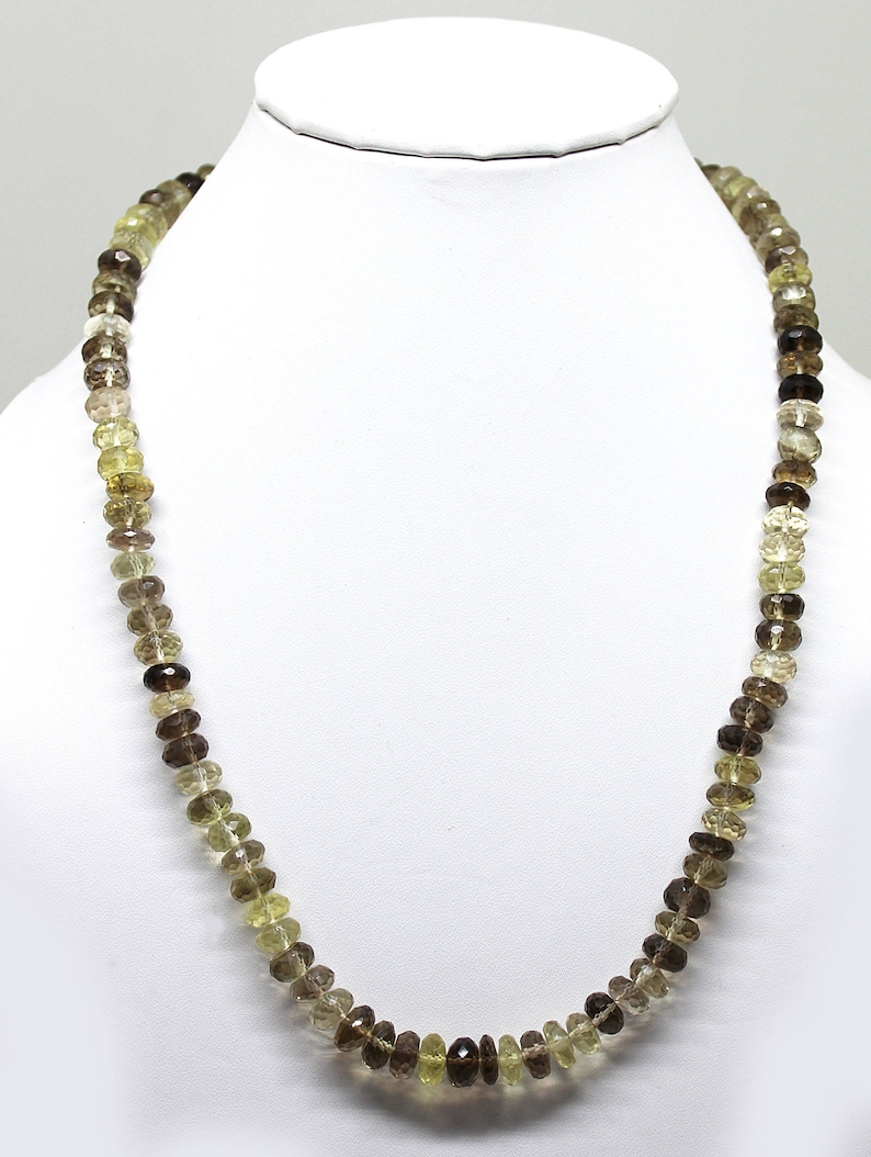 Natural Bio Lemon Faceted Rondelle Beads 18.5 Inch Full Strand Super Quality Beads Finished Necklace  7MM to 8MM