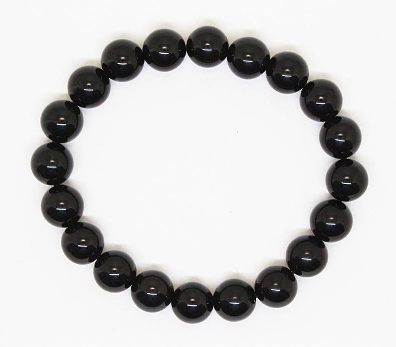 Black Onyx Bead Bracelet Genuine Black Onyx Bead Braceletblack Onyx Bracelets 10 mm Black Onyx healing bracelet, Black Onyx Bracelets