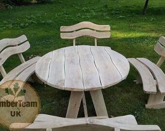Holz Gartenmöbel Set Einzigartig Handgefertigt