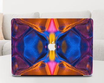 Abstract Geometric Psychedelic Print Laptop Cover Trippy Space MacBook Pro 13 Case 2020
