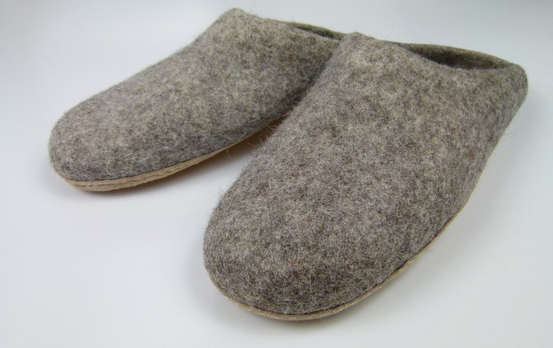 13d82d643a0 Felt slippers slippers made of felt wool with leather sole