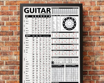 """The Ultimate Guitar Reference Poster v2 (2018 Edition) 24""""x36"""" // Gift for him // Gift for Guitar Player"""