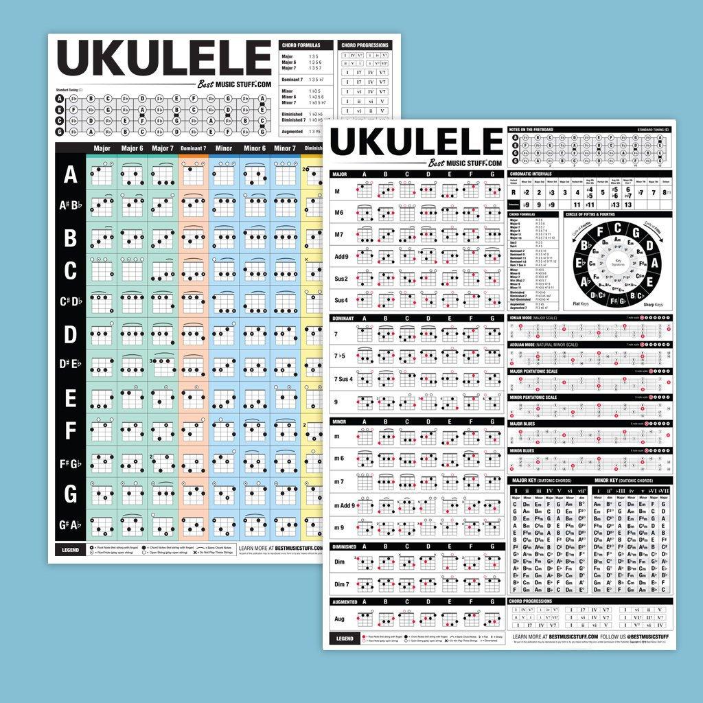 Popular Ukulele Chord Poster The Ultimate Ukulele Reference   Etsy