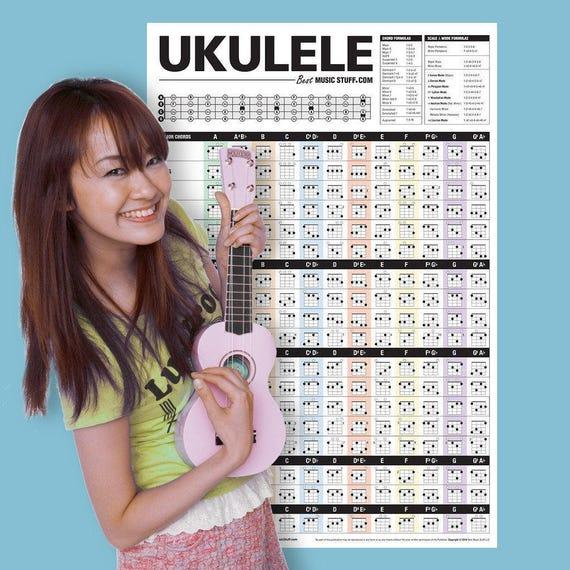 The Ultimate Ukulele Chord Poster 24x36 Etsy