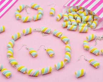 Handmade Marshmallow Flumps Sweet Candy Jewellery
