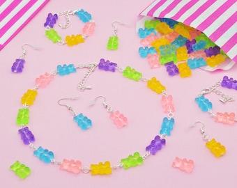 Handmade Gummy Bears Sweet Candy Jewellery