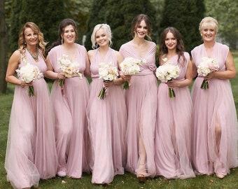 Blush Bridesmaid Dress Etsy
