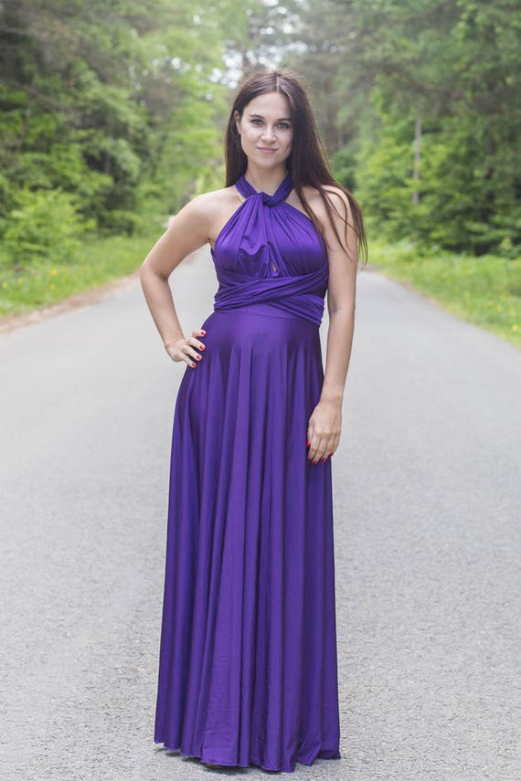 Plus size purple infinity dress, Plus size purple convertible dress, Plus  size purple multiway dress, plus size purple bridesmaid dress