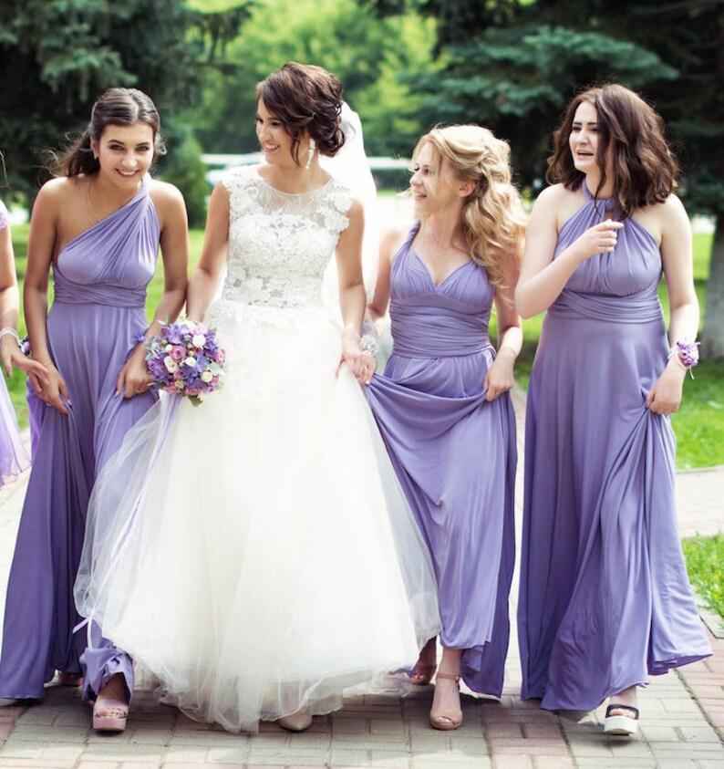 33fa7bd9c1 Lavender Bridesmaid dress lavender convertible dress