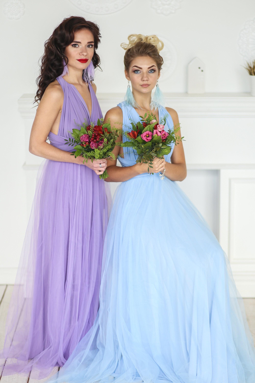 Plus size Baby blue bridesmaid dress baby blue infinity   Etsy