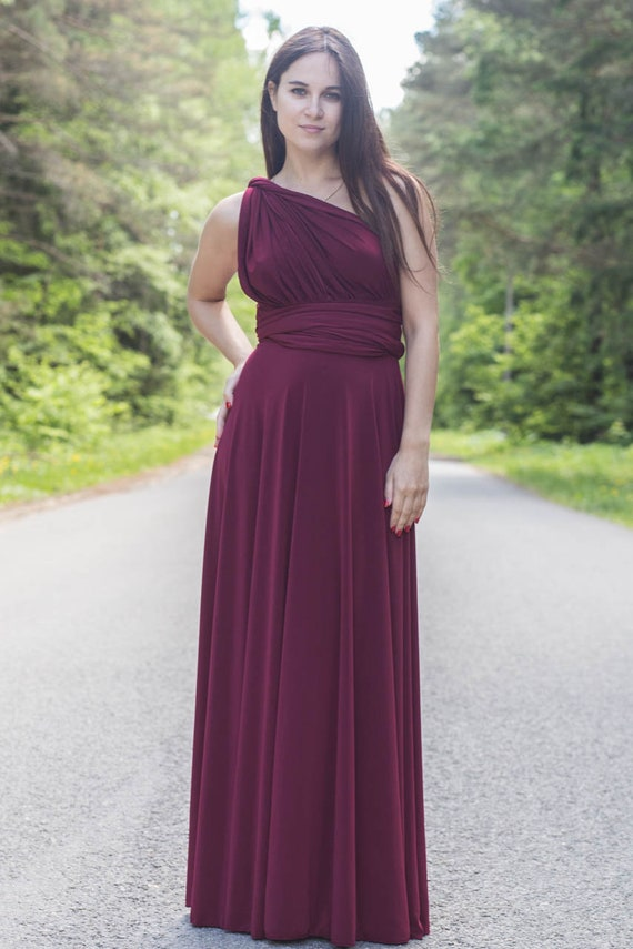 Plus Size Burgundy Wine Infinity Dress Plus Size Burgundy Etsy