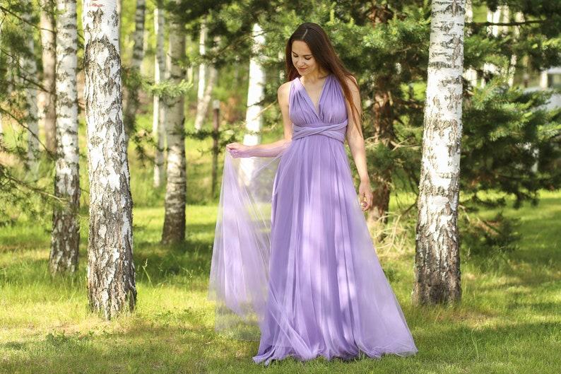 Plus size lavender Bridesmaid dress lavender infinity dress   Etsy