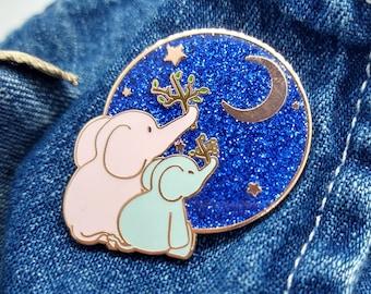Elephant/'s Rainbow \u2022 Lucky Elephant Enamel Pin \u2022 Glitter \u2022\u00a0Glow-In-The-Dark \u2022 Elephant Gift \u2022 Pride \u2022 Lapel Pin