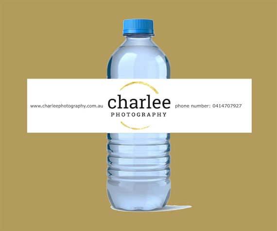 Water Bottle Labels Made With Gold Foil Etsy
