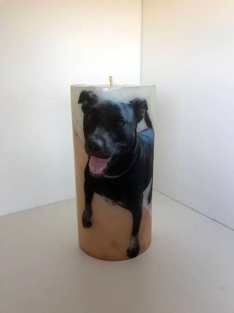In loving memory of a pet portrait candle