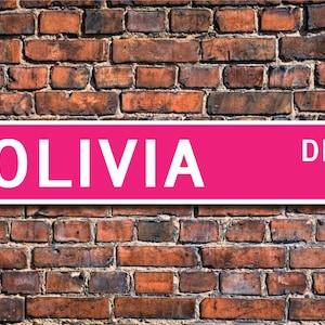 Olivia custom street sign- metallic