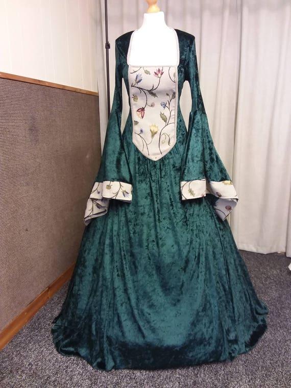Tudor Kleid Renaissance Kleid Mittelalter Kleid Anne