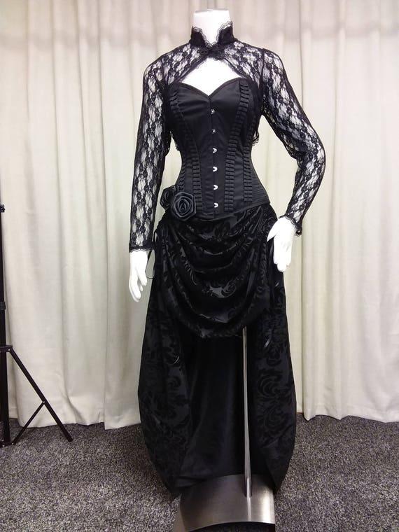 Steampunk Kleid hallo niedrige Kleid Gothic
