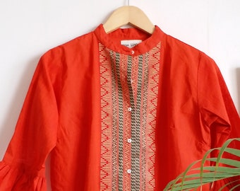 Veda Handloom Cotton Top