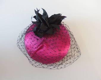 Burlesque fascinator, Veil, headpiece, dress,