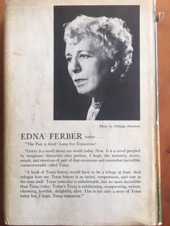 GIANT A NOVEL By Edna Ferber First Edition 1952 Double Day Company Inc Garden City New York