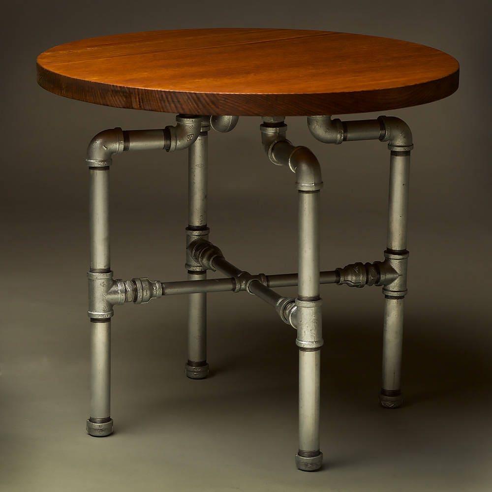 Black Pipe Coffee Table Diy: Round Plumbing Pipe Coffee Table